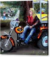 Marty's Harley Acrylic Print