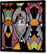 Maruvian Silver Mask Acrylic Print