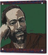 Marvin Gaye  Acrylic Print by Suzanne Gee