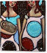 Mary And Elizabeth Acrylic Print