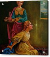 Mary And Martha Acrylic Print