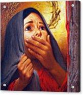 Mary At The Cross - Lgmrc Acrylic Print