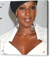 Mary J. Blige At Arrivals For The 4th Acrylic Print by Everett