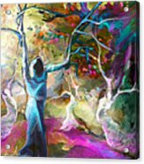 Mary Magdalene And Her Disciples Acrylic Print