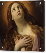 Mary Magdalene In Ecstasy At The Foot Of The Cross 1629 Acrylic Print