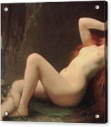 Mary Magdalene In The Cave Acrylic Print by Jules Joseph Lefebvre