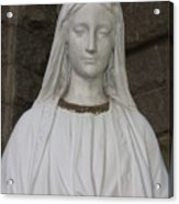 Mary Statue At Sacred Heart In Tampa Acrylic Print
