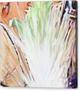 Mary Visits Elizabeth Acrylic Print