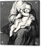 Mary With The Child Jesus Acrylic Print