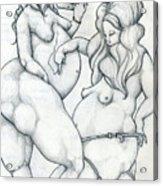 Maryanne And Regina Acrylic Print