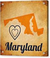 Maryland Vintage Acrylic Print
