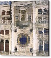 Marzaria Clocktower Reflection Acrylic Print