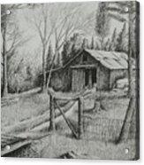 Ma's Barn And Truck Acrylic Print