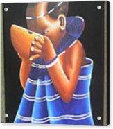 Masaai Kid Acrylic Print