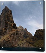 Masca Valley Entrance Panorama Acrylic Print