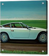 Maserati Khamsin 1974 Painting Acrylic Print