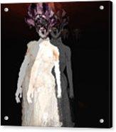 Mask-02 Acrylic Print by Theda Tammas