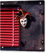 Mask By Window Acrylic Print