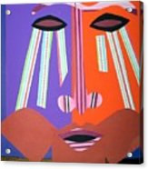 Mask With Streaming Eyes Acrylic Print