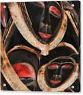 Masks Of Africa Acrylic Print