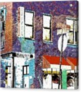 Mason Street And Cherry Acrylic Print by Jeff Gibford