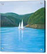 Mason's Sailboat Acrylic Print