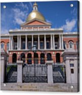5- Massachusetts State House Eckfoto Boston Freedom Trail Acrylic Print