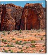 Massive Sandstone Cliffs Valley Of Fire Acrylic Print