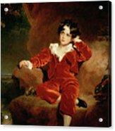 Master Charles William Lambton Acrylic Print by Sir Thomas Lawrence