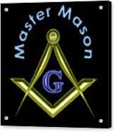 Master Mason In Black Acrylic Print