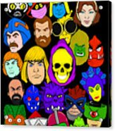 Masters Of The Universe Collage Acrylic Print