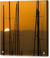 Masts At Dawn Acrylic Print