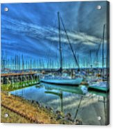 Masts Without Sails Acrylic Print by Dale Stillman