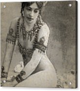 Mata Hari Sketch Acrylic Print