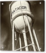 Matador Texas Water Tower Acrylic Print