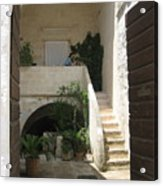 Matera, Italian Courtyard Acrylic Print