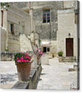 Matera With Flowers Acrylic Print