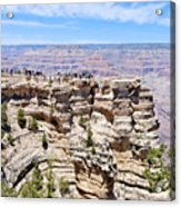 Mather Point At The Grand Canyon Acrylic Print by Julie Niemela