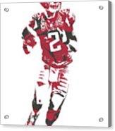 Matt Ryan Atlanta Falcons Pixel Art 6 Acrylic Print