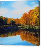 Mattawamkeag River in Autumn Acrylic Print