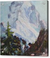 Matterhorn At 8 Pm Acrylic Print
