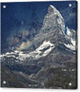 Matterhorn In Starry Night Acrylic Print