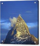 Matterhorn Mountain At Sunrise, Close Up Acrylic Print