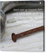 Matthew 6 Acrylic Print
