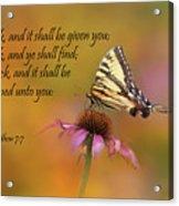 Matthew 7 7 Acrylic Print