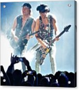 Matthias Jabs And Rudolf Schenker Shredding Acrylic Print