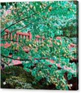 Matthiessen State Park Bridge False Color Infrared No 1 Acrylic Print