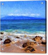 Maui Beach And View Of Lanai Acrylic Print