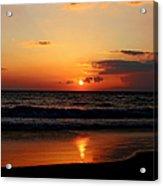 Maui Beach At Sunset Acrylic Print