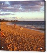 Maui Beach In Evening Acrylic Print